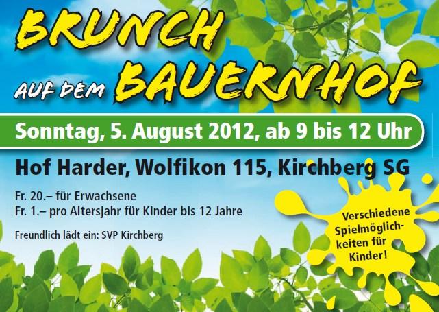 SVP Kirchberg: Brunch auf dem Bauernhof