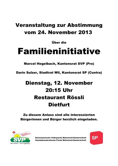 Anlass SVP Bütschwil-Ganterschwil