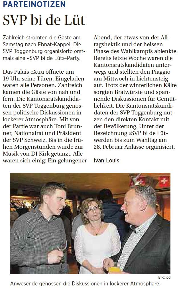SVP bi de Lüt (Dienstag, 16.02.2016)