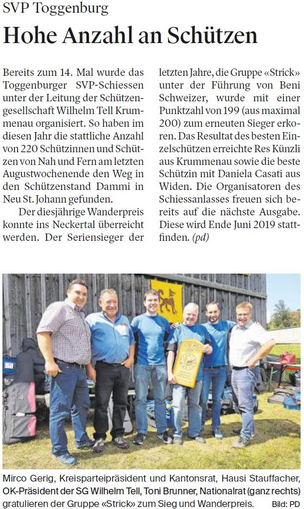Hohe Anzahl an Schützen (Mittwoch, 29.08.2018)